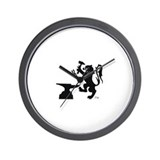 scottish lion shirt Wall Clock