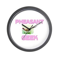 Pheasant Geek Wall Clock
