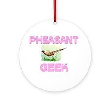Pheasant Geek Ornament (Round)