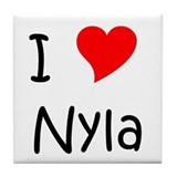Funny Nyla Tile Coaster