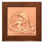 Sailing Cupid : Framed Tile