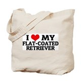 I Love My Flat-Coated Retriev Tote Bag