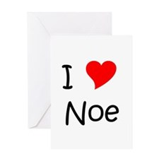 Cute I love noe Greeting Card
