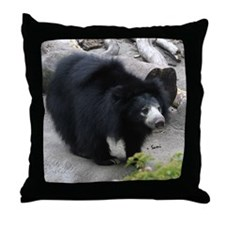 Sloth Bear Throw Pillow