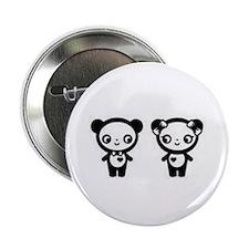 "Panda Love 2.25"" Button"
