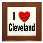 I Love Cleveland Framed Tile