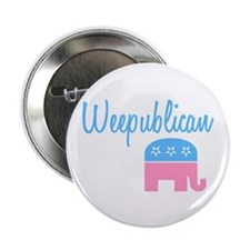 "Weepublican (Blue) 2.25"" Button (100 pack)"