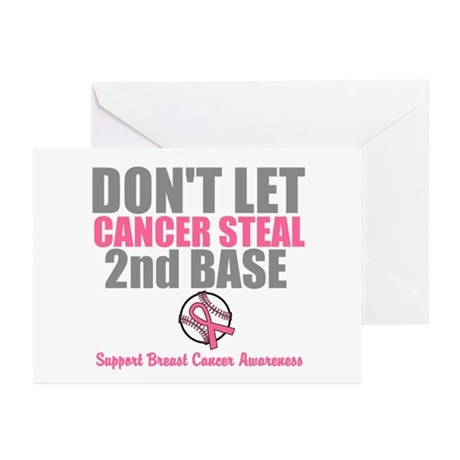 Dont Let Cancer Steal 2nd Base Greeting Cards (Pk