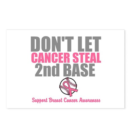 Dont Let Cancer Steal 2nd Base Postcards (Package