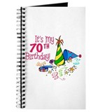 It's My 70th Birthday (Party Hats) Journal