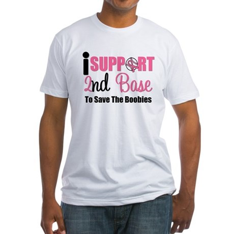 BreastCancer2ndBase Fitted T-Shirt
