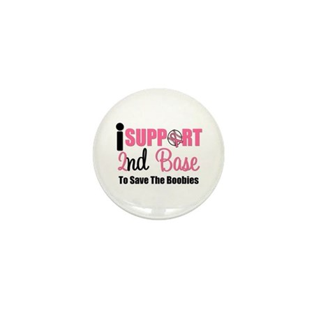 BreastCancer2ndBase Mini Button (10 pack)