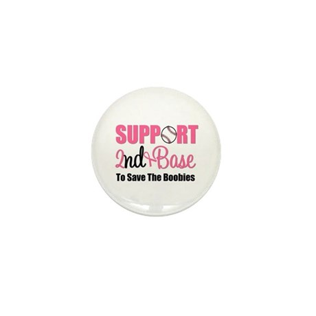 2ndbaseBreastCancer Mini Button