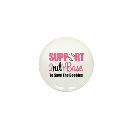 2ndbaseBreastCancer Mini Button (10 pack)