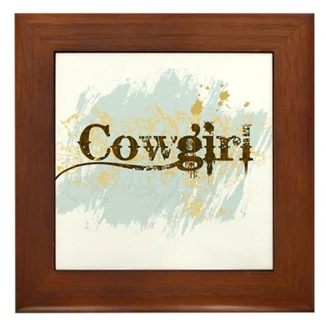 Cowgirl Framed Tile