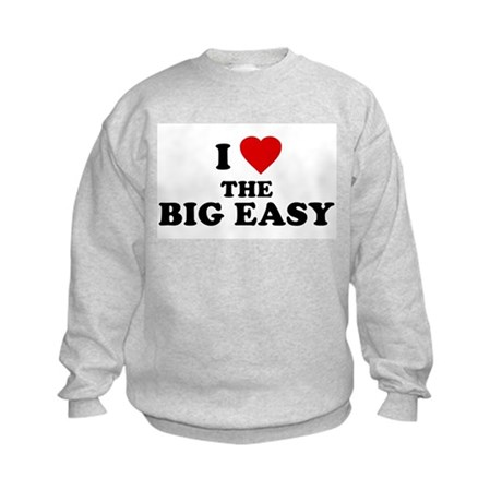I Love [Heart] the Big Easy Kids Sweatshirt