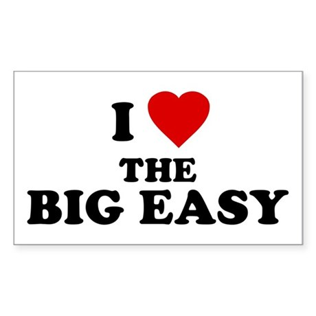 I Love [Heart] the Big Easy Rectangle Sticker