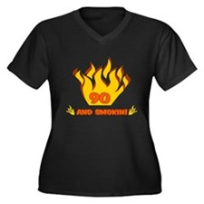 90 Years Old And Smokin' Women's Plus Size V-Neck