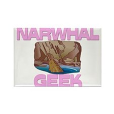 Narwhal Geek Rectangle Magnet