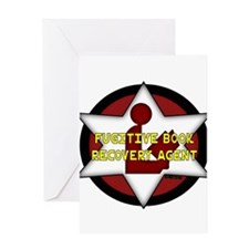 Fugitive Book Recovery Agent Greeting Card