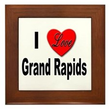 I Love Grand Rapids Michigan Framed Tile