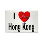 I Love Hong Kong Rectangle Magnet (10 pack)
