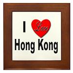 I Love Hong Kong Framed Tile