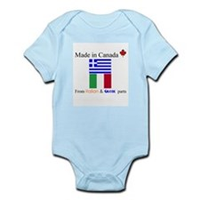 Made in Canada from Italian and Greek Parts Onesie