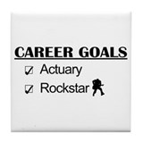 Actuary Career Goals Rockstar Tile Coaster