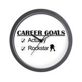 Actuary Career Goals Rockstar Wall Clock