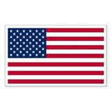 United States Flag Sticker Rectangle Sticker 10 p