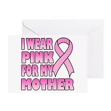 Mother Pink Ribbon Greeting Card