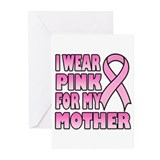Mother Pink Ribbon Greeting Cards (Pk of 20)