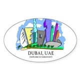 Dubai, UAE Oval Sticker (50 pk)