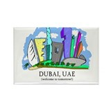 Dubai, UAE Rectangle Magnet