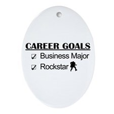 Business Major Career Goals Rockstar Ornament (Ova