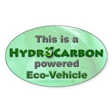 HydroCarbon Eco-Vehicle Oval Sticker (10 pk)