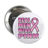 "Real Men Wear Pink 2.25"" Button (100 pack)"