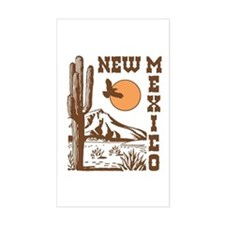 New Mexico Rectangle Decal