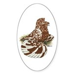 English Trumpeter Red Splash Oval Sticker (50 pk)