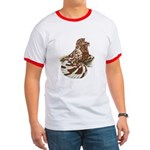 English Trumpeter Red Splash Ringer T