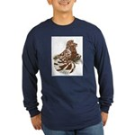 English Trumpeter Red Splash Long Sleeve Dark T-Sh