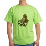 English Trumpeter Red Splash Green T-Shirt