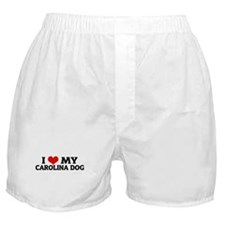 I Love My Carolina Dog Boxer Shorts