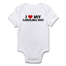 I Love My Carolina Dog Infant Creeper