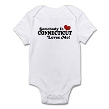 Somebody in Connecticut Loves Me Infant Bodysuit
