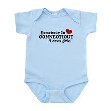 Somebody in Connecticut Loves Me Infant Bodysuit