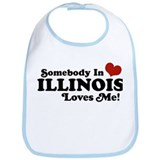 Somebody in Illinois Loves Me Bib