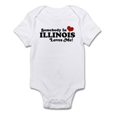 Somebody in Illinois Loves Me Infant Bodysuit
