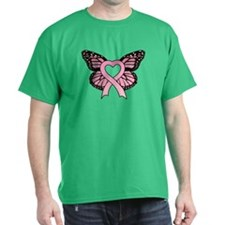 Pink Ribbon Butterfly T-Shirt